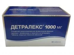 Детралекс, табл. п/о пленочной 1000 мг №60
